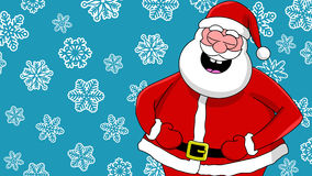 Funny laughing santa Royalty Free Stock Image