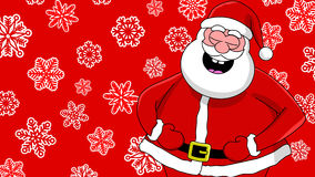 Funny laughing santa Stock Images