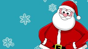 Funny laughing santa stock footage