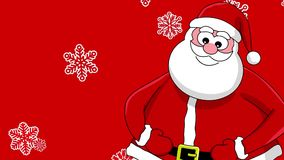 Funny laughing santa stock video