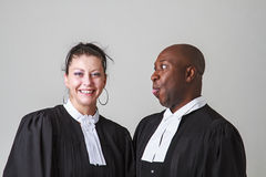 Funny lawyer Royalty Free Stock Images