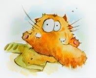 Funny lazy cat Royalty Free Stock Photos