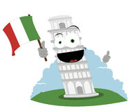 Funny Leaning Tower of Pisa Stock Images