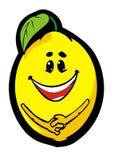 Funny lemon. Cartoon funny melon on white background Stock Illustration