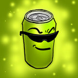 Funny lemon can Royalty Free Stock Photography