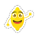 funny lemon smiling greeting cut line Stock Images