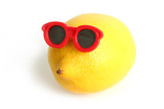 Funny lemon in sun glasses Royalty Free Stock Photo