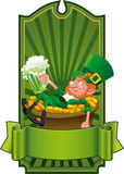 Funny_Leprechaun Royalty-vrije Stock Foto's