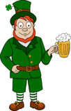 Funny leprechaun with beer Stock Photography