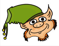 Funny leprechaun face Royalty Free Stock Images