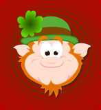 Funny Leprechaun Face Royalty Free Stock Image