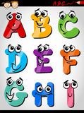 Funny letters alphabet cartoon illustration Royalty Free Stock Photos