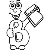 Funny letters kids coloring page Stock Photo