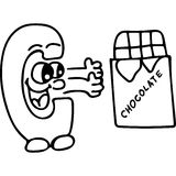 Funny letters kids coloring page Stock Images