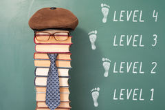 Funny level education concept Royalty Free Stock Image