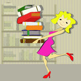 Funny librarian Stock Image
