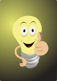 Funny Light bulb Royalty Free Stock Photography