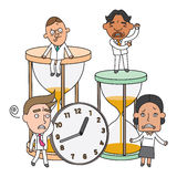 Funny line character illustration Business Story. Series Stock Photography