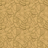 Funny line picture seamless pattern Royalty Free Stock Photography