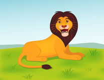 Funny lion cartoon. Illustration of funny lion cartoon Royalty Free Stock Images