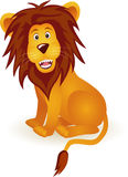 Funny lion cartoon stock illustration