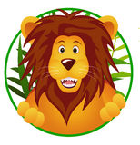 Funny lion cartoon Stock Image