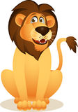 Funny lion cartoon Stock Images