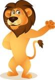 Funny lion cartoon Stock Image