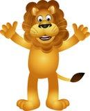 Funny lion cartoon Royalty Free Stock Image