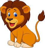 Funny lion cartoon Stock Photo