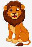 Funny lion cartoon Royalty Free Stock Images