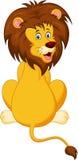 Funny lion cartoon. Illustration of Funny lion cartoon Stock Photo