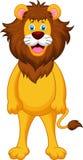 Funny lion cartoon Royalty Free Stock Photos