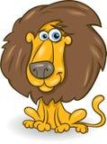 Funny lion cartoon illustration Stock Photos