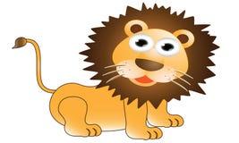 Funny lion cartoon Stock Photography