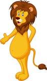 Funny lion cartoon waving hand. Illustration of Funny lion cartoon waving hand Stock Photography