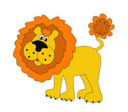 Funny lion insulated. Illustration funny lion insulated on white background Royalty Free Stock Photography