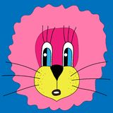 funny lion sticker royalty free illustration