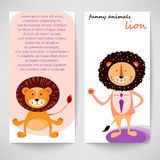 Funny lion. Stock Image