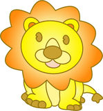 Funny lion - vector illustration Stock Images