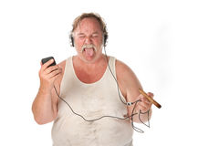 Funny Listening Face Stock Image