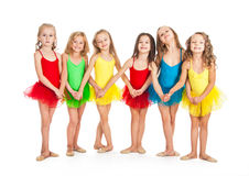 Funny little ballet dancers Stock Image