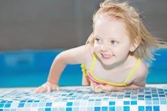 Funny little blond girl Stock Image