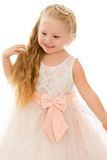 Funny little blonde girl Royalty Free Stock Photos