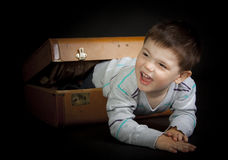 Funny little boy crawling Stock Photography