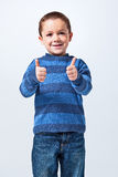 Funny Little Boy Doing an OK Sign Royalty Free Stock Photography