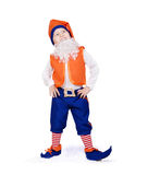 Funny little boy in gnome fancy-dress Stock Images