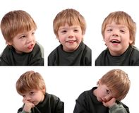 Funny little boy isolated Stock Photo