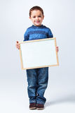 Funny Little Boy with a Blank Board Stock Photography