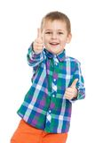 Funny little boy makes a gesture all is well Stock Images